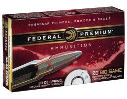 Federal Premium 180 gr Nosler Partition .30-06 Spfld Ammo, 20/box - P3006F