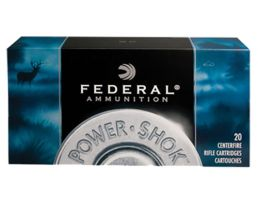 Federal Power-Shok 220 gr Jacketed Soft Point .30-06 Spfld Ammo, 20/box - 3006HS