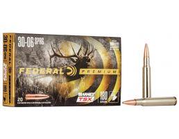 Federal Premium Barnes TSX 180 gr Triple-Shock X .30-06 Spfld Ammo, 20/box - P3006AE
