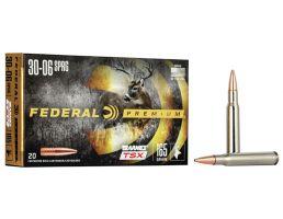 Federal Premium Barnes TSX 165 gr Triple-Shock X .30-06 Spfld Ammo, 20/box - P3006AF