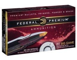 Federal Premium 165 gr Trophy Bonded Tip .30-06 Spfld Ammo, 20/box - P3006TT2