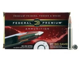 Federal Premium 150 gr Nosler AccuBond .30-06 Spfld Ammo, 20/box - P3006A3