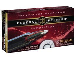 Federal Premium 225 gr Nosler AccuBond .338 Win Mag Ammo, 20/box - P338A1