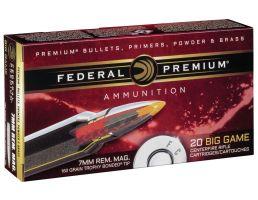 Federal Premium 160 gr Trophy Bonded Tip 7mm Rem Mag Ammo, 20/box - PR7TT1