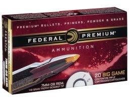 Federal Premium 140 gr Trophy Bonded Tip 7mm-08 Rem Ammo, 20/box - P708TT2