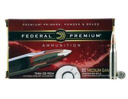 Federal Premium 140 gr Nosler AccuBond 7mm-08 Rem Ammo, 20/box - P708A1