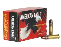 Federal American Eagle 38 gr Jacketed Hollow Point .22lr Ammo, 40/box - AE 22