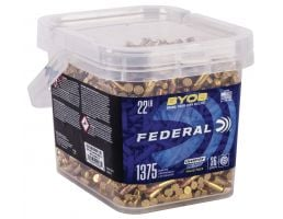 Federal BYOB 36 gr Copper-Plated Hollow Point .22lr Ammo, 1375rd - 750BKT1375
