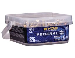 Federal BYOB 36 gr Copper-Plated Hollow Point .22lr Ammo, 825/box - 750BKT825