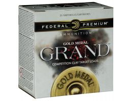 "Federal Premium Gold Medal Grand Plastic 2.75"" 12 Gauge Ammo 7-1/2, 25/box - GMT11375"