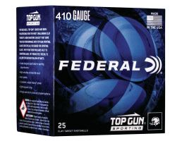 "Federal Top Gun Sporting 2.75"" 410 Gauge Ammo 8, 25/box - TGS41214 8"