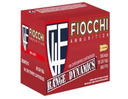 Fiocchi Range Dynamics 95 gr Full Metal Jacket .380 ACP Ammo, 1000 Rounds - 380ARD