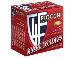 Fiocchi Range Dynamics 230 gr Full Metal Jacket .45 Auto Ammo, 600 Rounds - 45ARD