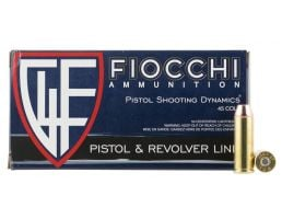 Fiocchi Shooting Dynamics 225 gr Copper Metal Jacket Flat Point .45 Colt Ammo, 50/box - 45LCCMJ