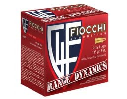 Fiocchi Range Dynamics 115 GR FMJ 9mm Luger Ammo