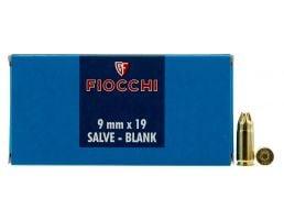 Fiocchi 9x19mm Blank Ammo, 50/box - 9MMBLANK
