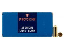 Fiocchi .38 Spl Blank Ammo, 50/box - 38BLANK