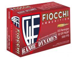 Fiocchi Range Dynamics 62 gr Full Metal Jacket Boat Tail .223 Rem 1000 Rounds - 223CRD