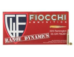 Fiocchi Range Dynamics 55 gr Full Metal Jacket Boat Tail .223 Rem Ammo, 1000 Rounds - 223ARD