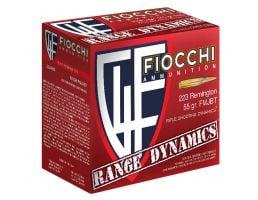 Fiocchi Range Dynamics 55 gr Full Metal Jacket Boat Tail .223 Rem 1000 Rounds - 223ARD10