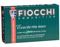 Fiocchi Exacta Match 180 gr Boat Tail Hollow Point .308 Win Ammo, 20/box - 308MKC