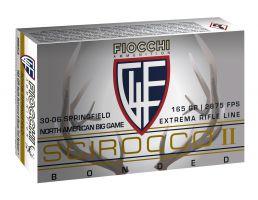 Fiocchi Extrema 165 gr Swift Scirocco II Boat Tail Spitzer .30-06 Spfld Ammo, 20/box - 3006SCA