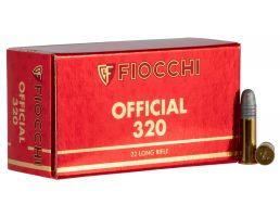 Fiocchi Exacta Super Match 40 gr Round Nose .22lr Ammo, 50/box - 22SM320
