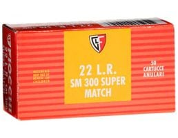 Fiocchi Exacta Super Match 40 gr Lead Round Nose .22lr Ammo, 50/box - 22SM300
