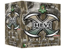 "Hevi-Shot Hevi-X Mossy Oak Bottomland 3"" 20 Gauge Ammo 6, 25/box - 52306"