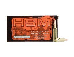 HSM Ammunition Match 168 gr Hollow Point Boat Tail MatchKing .308 Win Ammo, 20/box - HSM-308-2-N