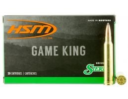 HSM Ammunition Game King 165 gr Spitzer Boat Tail .300 Win Mag Ammo, 20/box - HSM-300WinMAG-40-N