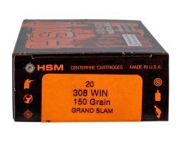 HSM Ammunition Grand Slam .308 Win Ammo, 20/box - 30820N