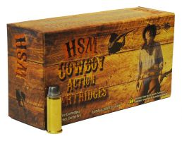 HSM Ammunition Cowboy Action 165 gr Hard Lead Round Nose Flat Point .30-30 Win Ammo, 20/box - HSM-30-30-6-N