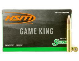 HSM Ammunition Game King 225 gr Spitzer Boat Tail .35 Whelen Ammo, 20/box - HSM-35Whelen-1-N