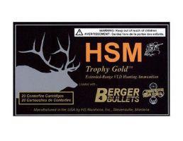 HSM Ammunition Trophy Gold 95 gr Match Hunting Very Low Drag 6mm BR Ammo, 20/box - BER-6BR95TVLD