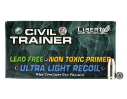 Liberty Ammunition Civil Trainer 65 gr .380 ACP Ammo, 50/box - LATR380049