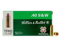 Sellier & Bellot 180 gr Total Full Metal Jacket .40 S&W Ammo, 50/box - SB40NT