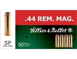 Sellier & Bellot 240 gr Semi-Jacketed Soft Point .44 Rem Mag Ammo, 50/box - SB44A