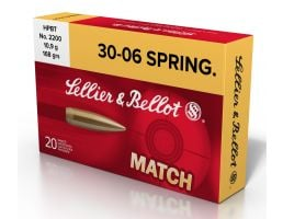 Sellier & Bellot 168 gr Hollow Point Boat Tail .30-06 Spfld Ammo