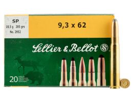 Sellier & Bellot 285 gr Semi-Jacketed Soft Point 9.3x62mm Mauser Ammo