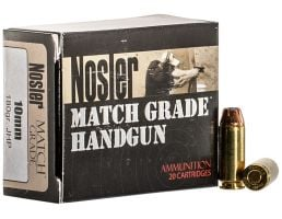Nosler 180 gr Jacketed Hollow Point 10mm Ammo, 20/box - 51400