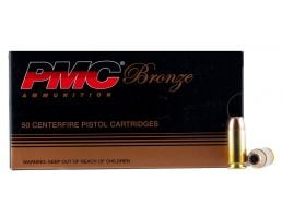 PMC Ammunition Bronze 165 gr Jacketed Hollow Point .40 S&W Ammo, 50/box - 40B