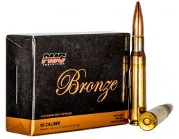 PMC Ammunition Bronze 660 gr Full Metal Jacket Boat Tail .50 BMG Ammo, 10/box - 50A