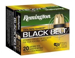 Remington Golden Saber Black Belt 230 gr Belted Brass Jacketed Hollow Point .45 ACP Ammo, 20/box - GSN45APC