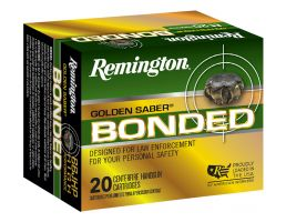 Remington Golden Saber 185 gr Bonded Brass Jacketed Hollow Point .45 ACP Ammo, 20/box - GSB45APAB
