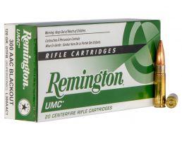 Remington UMC 120 gr Open Tip Flat Base .300 Blackout Ammo, 20/box - L300AAC1
