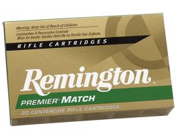 Remington Premier Match 168 gr MatchKing Boat Tail Hollow Point .308 Win Ammo, 20/box - RM308W7