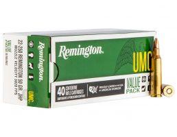 Remington UMC 50 gr Jacketed Hollow Point .22-250 Rem Ammo, 40/box - L22504B