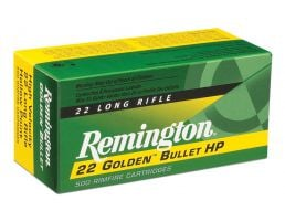 Remington 22 Golden Bullet 36 gr Plated Hollow Point .22lr Ammo, 50/box - 1622
