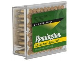 Remington 22 Golden Bullet 36 gr Plated Hollow Point .22lr Ammo, 100/box - 1600
